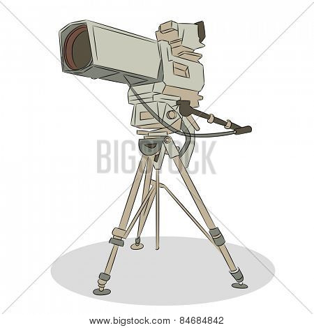 An image of a television video camera.
