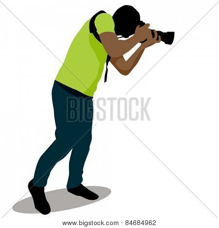 An image of a paparazzi taking a photo.
