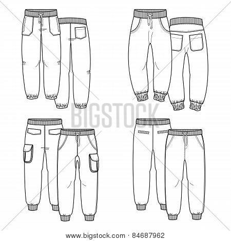 Pants. Outline