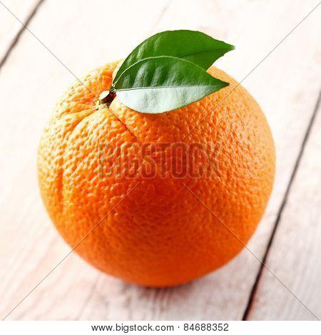 One ripe orange fruit