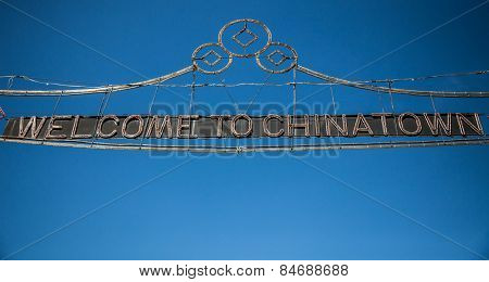 Welcome to chinatown sign in Manhattan New York City