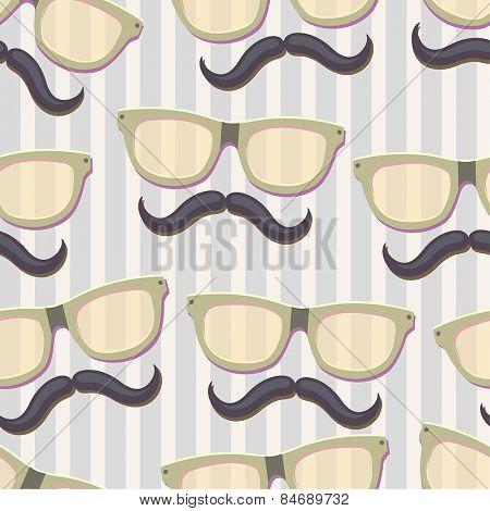 Nerd glasses.Seamless vector Illustration