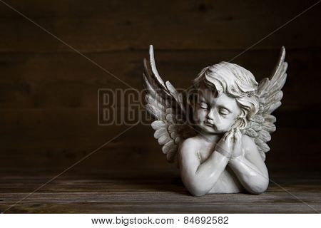 Sad angel: idea for a greeting or condolence card.