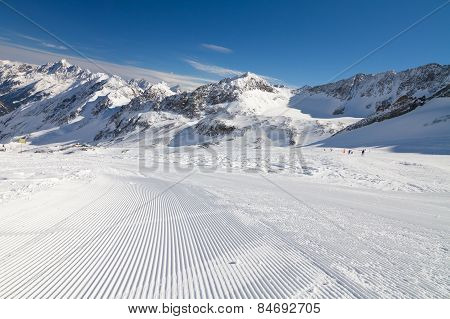 Winter Landscape In Stubai, Austria