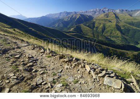 tendenera Mountains in Pyrenees, Tena Valley, Huesca, Aragon, Spain.