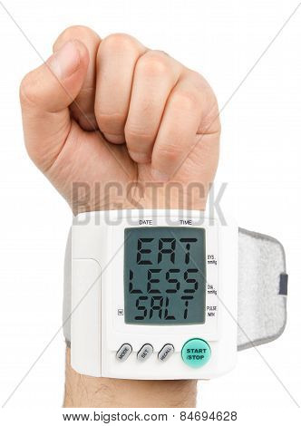 Eat Less Salt Digital blood pressure monitor