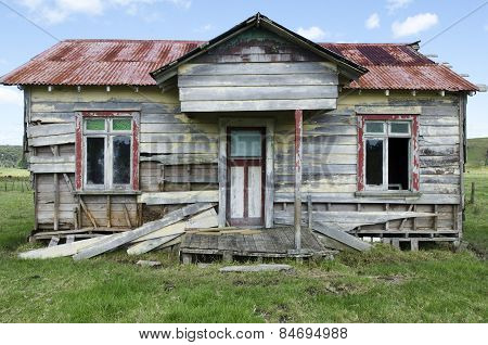 Old Deserted House Home Wooden Farm Country