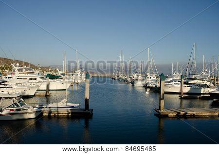 ENSENADA, BAJA CALIFORNIA, MEXICO- MARCH 21, 2015: View of a yacht club in a sunny day in Ensenada, Baja California, Mexico.