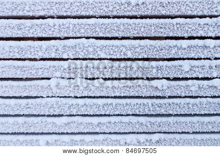 Frosty Wooden Wall