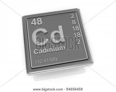 Cadmium. Chemical element. 3d