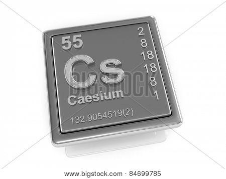 Caesium. Chemical element. 3d