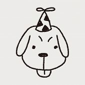 picture of dog birthday  - Doodle Birthday Dog - JPG