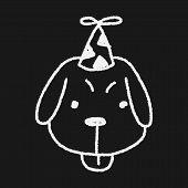 picture of dog birthday  - Doodle Birthday Dog - JPG