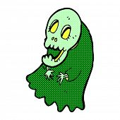 stock photo of ghoul  - retro comic book style cartoon spooky ghoul - JPG