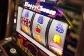 stock photo of poker machine  - A pachinko machine in a parlour somewhere in Japan - JPG