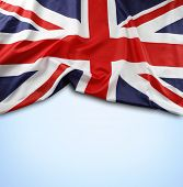 picture of union  - Union Jack flag on blue background - JPG