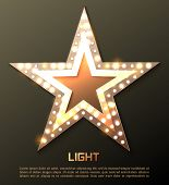 image of marquee  - Star retro light banner - JPG