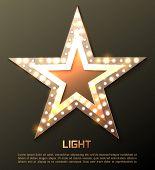 foto of marquee  - Star retro light banner - JPG