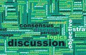 foto of debate  - Discussion or Debate as a Verbal Concept Art - JPG
