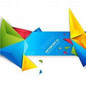 stock photo of polygon  - Vector color background abstract polygon triangle - JPG