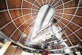 Постер, плакат: Modern Astronomy Telescope In An Astronomical Observatory