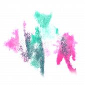 image of insults  - Abstract watercolor background turquoise - JPG