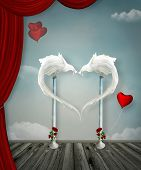 stock photo of surreal  - Surreal heart - JPG
