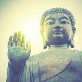 image of buddha  - Giant Buddha in Hong Kong - JPG