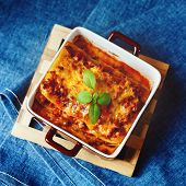 picture of lasagna  - Italian Food - JPG