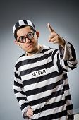 image of inmate  - Prison inmate in funny concept - JPG