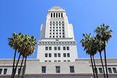 stock photo of city hall  - Los Angeles California United States - JPG