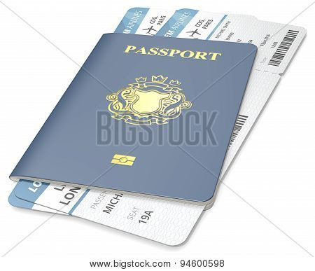 Passport And Ticket.