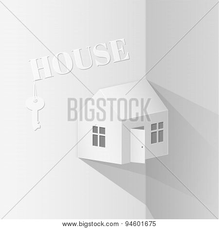 paper model house