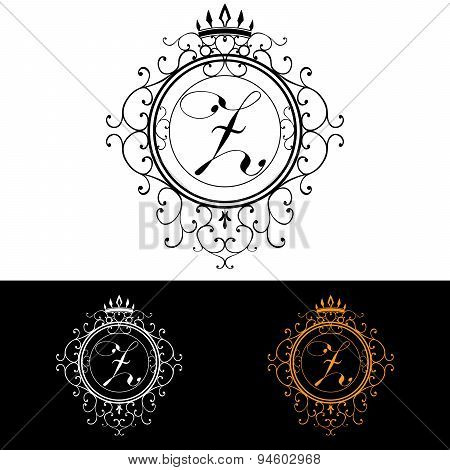 Letter Z. Luxury Logo Template Flourishes Calligraphic Elegant Ornament Lines. Business Sign, Identi