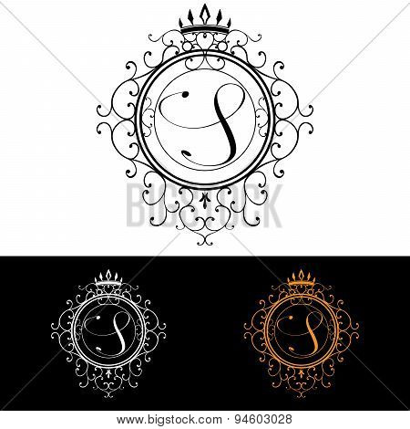 Letter S. Luxury Logo Template Flourishes Calligraphic Elegant Ornament Lines. Business Sign, Identi