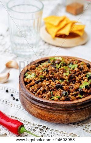 Vegetarian Chili With Cilantro