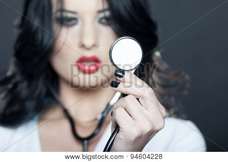 Beautiful Doctor With Phonendoscope