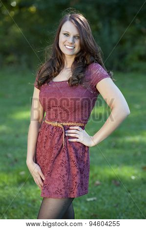Happy Young Girl Outdoors