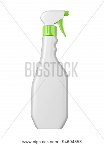 Clean White Plastic Bottl With Detergent