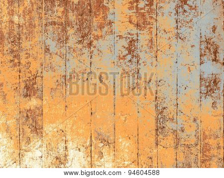 Weathered wood background with multicolored floorboards in grunge style