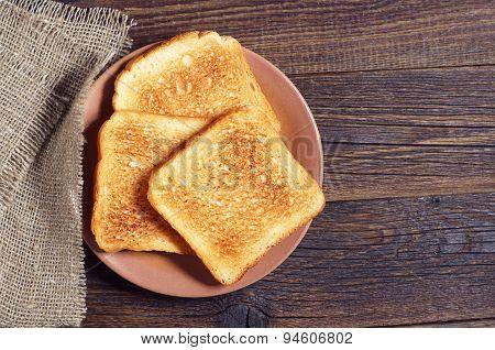 Slices Of Toast Bread