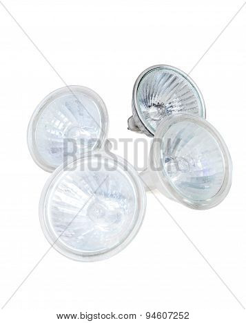 Halogen Lamps Isolated On White Background
