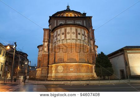 Beautiful church Santa Maria delle Grazie is the place where can be found famous fresco of Leonardo da Vinci