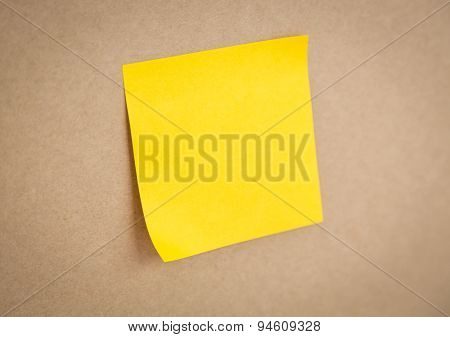 Sticky note on board