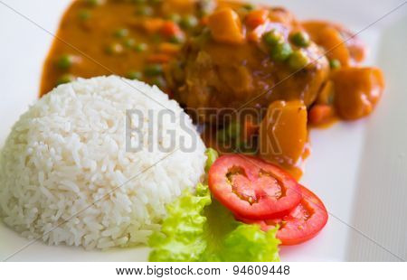 Chicken Curry served with rice