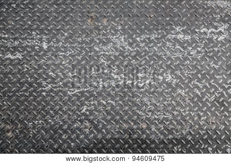 Dirty metal plate