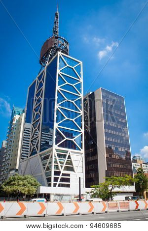 SAO PAULO, BRAZIL - APRIL 20 2015: Paulista Avenue on April 20, 2015. in Sao Paulo, Brazil. Paulista is one of the most important avenues in Sao Paulo with 2.8 kilometer of thoroughfare.