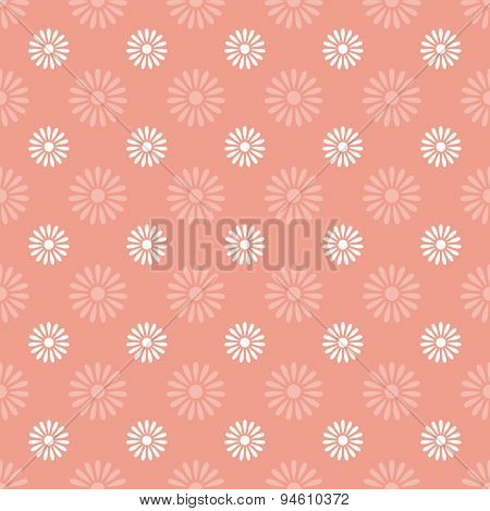 Flower on pink seamless pattern background