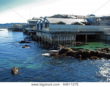 MONTEREY CALIFORNIA - NOVEMBER 14: Exterior View of the Monterey Bay Aquarium 2012
