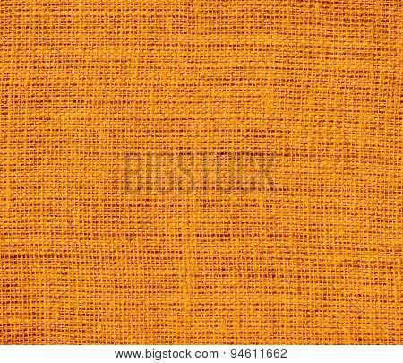Dark orange burlap texture background